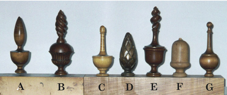Finials. Bed Rail Styles