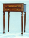 2 Drawer Mahogany Side Table