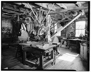 interior of Old Schwamb mill, Arlington, MA
