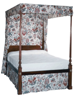 reproduction of a chippendale bed