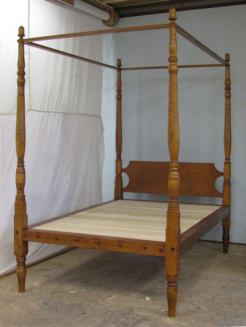 antique four poster bed A New Hampshire Four Poster Bed Restored antique four poster bed